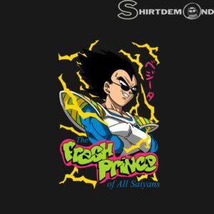 Vegeta T shirt Fresh prince of all saiyans
