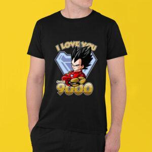 Vegeta T shirt Love You Over 9000